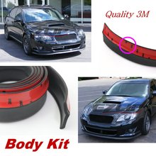 For Subaru Pleo Bumper Lip / Front Spoiler Deflector Car View Tuning / Body Kit / Strip Skirt / Anti-Scratch Stickers