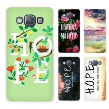 Hold On Pain Ends H.O.P.E Clear Transparent Cell Phone Case Cover for Samsung Galaxy A3 A5 A7 A8 A9 2016 2017
