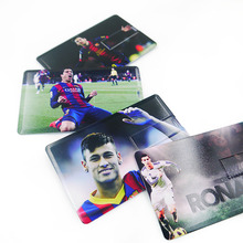 Football star card usb flash card 32GB 16GB 8GB 4GB usb flash drive messi Cristiano Ronaldo Neymar Suarez pen drive memory card