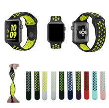 New colors sport silicone Bands for apple watch Series 1 2 3 38mm 42mm link Bracelet Strap for iwatch