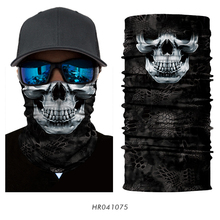 Magic 3D Seamless Horror Ghost Death Skull Neck Face Mask Head Scarf Motorcycle Cycling Ski Bicycle Outdoor Bandana Headband