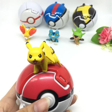 Kwaii Pikachu action figure kids toys with Wizard Master Ball,1 ball(7)+6 Wizard(3-5cm)(China)