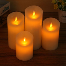 New LED Electronic Flameless Candle Lights+10 Keys Remote Control Simulation Candle Lamp Festival Party Wedding Birthday Gifts