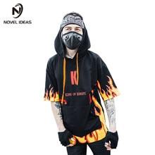 Ideas 2018 hombres verano sueltos tops moda hip hop camiseta streetwear  camiseta con capucha Kanye ropa 536c1cdcdbe