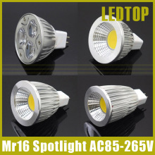 High lumen CREE MR16 LED spot light AC/DC 12V 6W 9W 12W 15W COB / High power LED Spotlight Bulb Lamp WARM /COOL WHITE