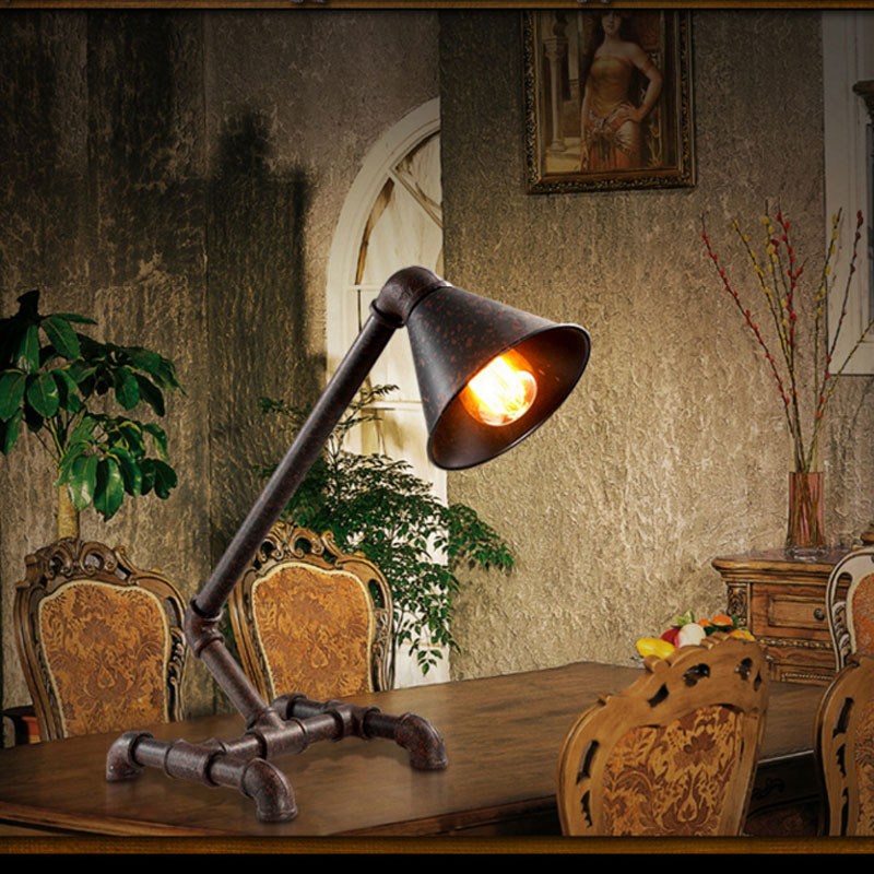 rural style Hoses Edison bar creative bedroom lamp Restore ancient ways,loft retro light study restaurant personality table lamp<br>