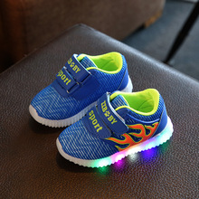 Children's Spring Autumn 2016 LED light shoes girls boy casual shoes shoes sports shoes fashion glowing sneakers for kids 21-31