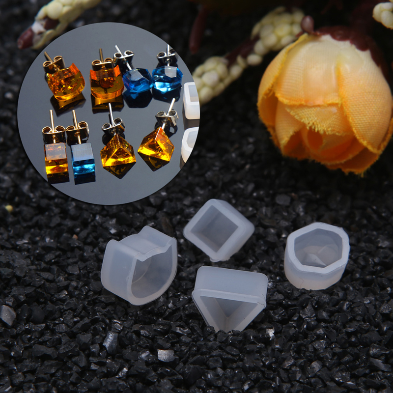 DIY Molde de Silicona Pendientes de Bot/ón de Oreja Joyas de Oreja Conjunto de Herramientas de Artesan/ía Hechas a Mano yuyte Pendientes DIY Molde