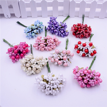 40PCS/lot Mulberry party And cherry Artificial Flower Stamen wire stem/marriage leaves stamen wedding box decoration