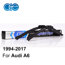 Oge Wiper Blades For Audi A6 C4 / C5 / C6 / C7 1994-2017 High Quality Rubber Windscreen Windshield Car Accessories(China)