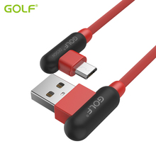GOLF 90 Degree Right Angle 2.4A Fast Charging USB Data Sync Charger Cable For iPhone 5 6 6S 7 8 Plus X Samsung S7 S8 LG G3 G5 G6(China)