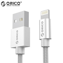 For MFi iPhone Cable 1m iOS10.3,ORICO 2.4A Fast Mobile Phone Lighting to USB Charger Data Cable for iPhone7 6 5 iPad Air iPod(China)