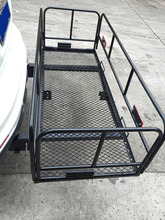 "e2c 60"" Folding Cargo Carrier 2 "" Hitch-Mount Luggage Mesh Rack Basket 2 Support Bar(China)"