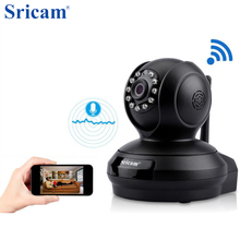 Sricam SP019 Wireless IP Camera H.264 1080P WiFi Indoor Camera P2P PT Support TF Card Home Security  Surveillance Cam Black