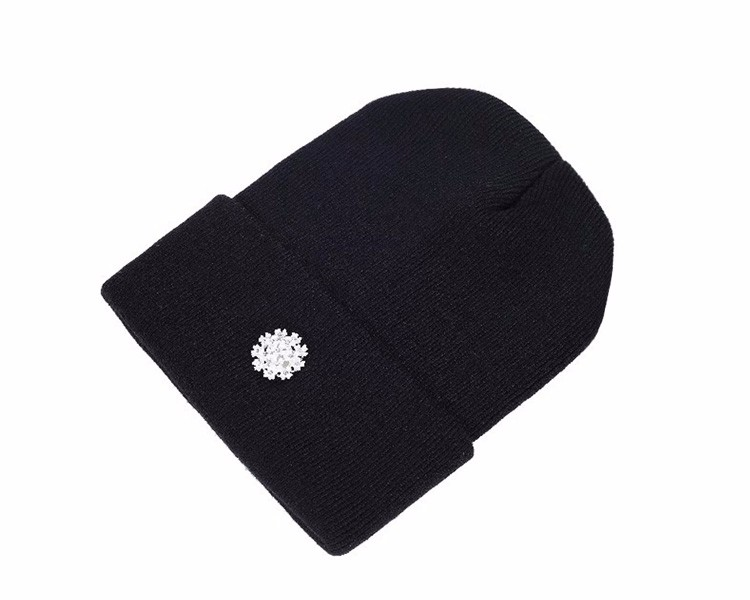 Ralferty New Fashion Lovely Knitting Wool Acrylic Beanies Hip Hop One Flower Hats for Women Gorros Bonnets Caps Woman Floral Cap 6