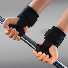Wrist wrap 2Pcs Weight Lifting Training Gym Wrist Support Gloves Wrap Hand Bar Black Straps