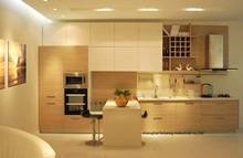 melamine/mfc kitchen cabinets(LH-ME046)(China)