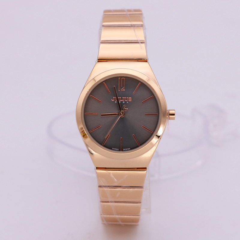 Lady Womens Watch Japan Quartz Luxury Style Fashion Hours Dress Business Bracelet Stainless Steel Chain Girl Gift Julius Box<br>