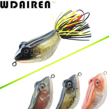 High Quality Kopper Live Target ABS Frog Lure 5cm 12g Snakehead Lure Topwater Simulation Frog Fishing Lure 3D hard Bass Bait(China)