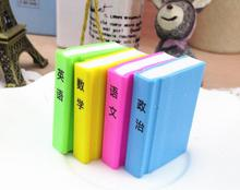 Wholesale MIX4pcs cartoon textbook or animal or football Eraser Cute Students office School Supplies Pen Shape Eraser For Kids