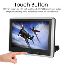 10.1 Inch TFT Digital LCD Screen Car Headrest DVD Player Touch Button Monitor 720p with HD USB SD Port Remote Control