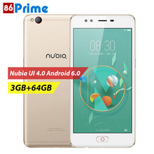 ZTE Nubia M2 Lite Cell Phones Camera Smartphone MTK6750 Mobile Phone Octa Core 3GB 64GB Android 5.5 Inch Smart Phone 16MP UI 4.0(China)
