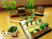 Brinquedos Meninas 1/12 country Garden yard set furniture Miniature cook tools Doll Houses toy