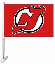 30x45CM New Jersey Devils car Flag window Car flag polyester Car decoration with flagpole Free Shipping