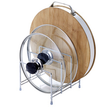 2 3 Tier Cutting Board Holder Kitchen Organizer Rack Storage Cover Stand Stainless Steel Dish Rack Cutting Boards pot Lid Stand(China)