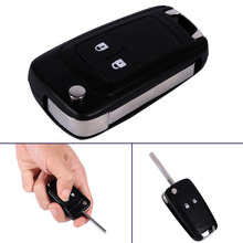 Flip Folding Remote 2 Buttons Car Key Fob Shell Case For Vauxhall Opel Astra Insignia(China)