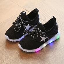 Led luminous Shoes For Boys girls Fashion Light Up Casual kids 3 Colors USB charge new simulation sole Glowing children sneakers