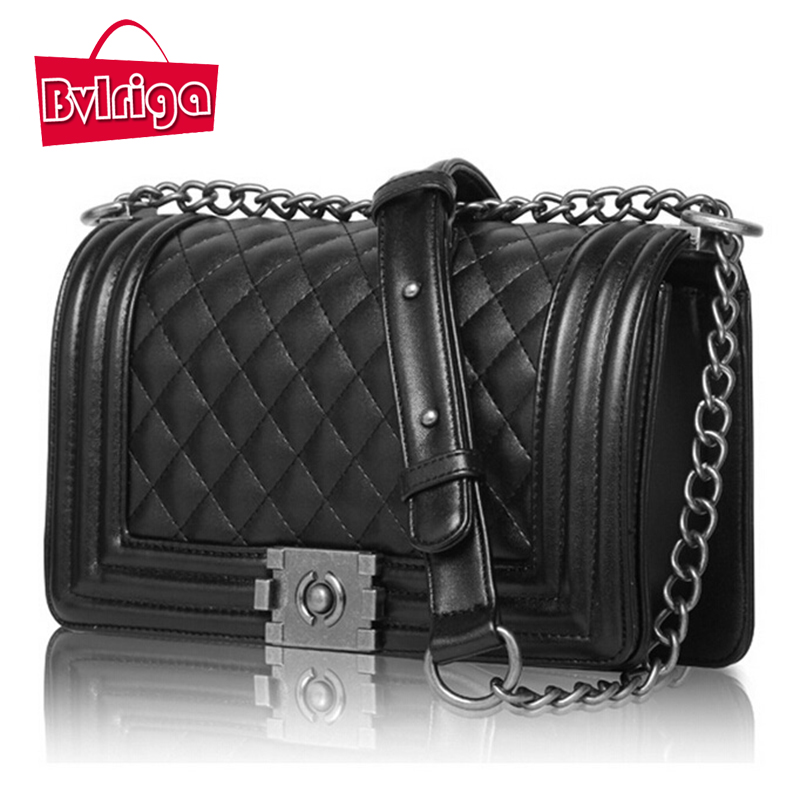 BVLRIGA women messenger bags handbags women famous brands high quality small clutch bag chain shoulder bag leather women bag