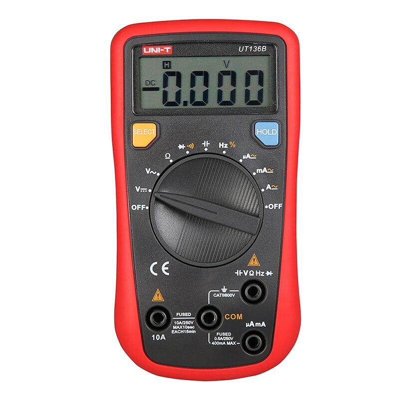 UT136B High Precision Handheld Multimeter Ammeter Capacitance Ohm Meter Digital Universal Meter LCD Count 3999 AVO Meter  UNI-T<br>