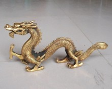 China antique bronze bronze sculpture dragon jewelry Longba world wealth and power to ward off evil, free delivery(China)