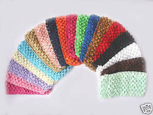 200pcs Hand Customize Hair Accessories Free Shipping Boutique Good Girl Crochet Headband 2.5~3 inch(China)