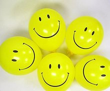 20pcs Holiday Supplies Smile Balloon 10-Inch Thicken Yellow Interest Birthday Party Arrangement Balloon