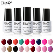 Elite99 7ml Wine Red Color Semi permanent Nail Gel Polish Colorful Colors UV Gel Varnish Soak Off LED UV Primer Gel Nail Art