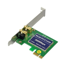 300Mbps Wireless N WIFI PCI Network Adapter Card Lan Dongle + Antenna Desktop PC