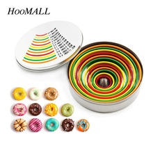 Hoomall 12Pcs Stainless Steel Circle Mousse Ring Baking Tool Set Doughnut Cookie Cutter Cake Mold DIY Home Kitchen Bakeware(China)