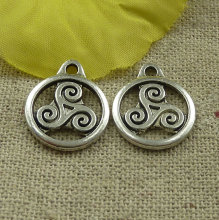 201 pieces tibetan silver nice charms 19x15mm #4565