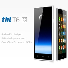 THL T6C 5.0'' Android 5.1 Smartphone MTK6580 Quad Core 1.3GHz RAM1G ROM 8G GPS WiFi Bluetooth GSM & WCDMA Cell Phones