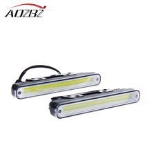 AOZBZ 2pcs Car Daytime Running Light LED Car Driving lamp Hot Ultra Bright Light 6500K 12W 1200LM Waterpoof(China)