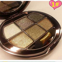 New Arrival 1 set 6-color 3D Diamond Shine Eye Shadow Palette  eye shadow Smoky  makeup kit 6 Styles You can Choose