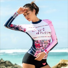 Sbart Professional Women Upf Protector Rash Guards Sun Protector Diving Swimsuits Long Sleeve Wetsuit Windsurf Shirts Cloth