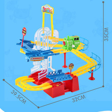 YUSHIXING Electric train track Toy Electric Rail Car Railway Toy 3D Rail Road Tracks Toy Trains For Kids Christmas Gift A333 160(China)