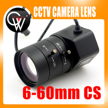 "1.3MP 1/3"" 6-60mm F1.6 CS Mount DC Auto Iris Varifocal IR CCTV Lens for Box Body Camera(China)"