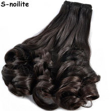 S-noilite 8Pcs/set Clip On Hair Extension 50-66cm 18-26inch Natural & Thick Hairpieces Curly Synthetic Clip In Hair Extensions(China)