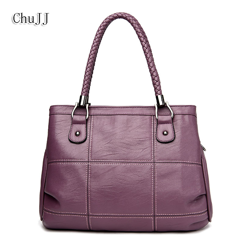 High Quality Womens Genuine Leather Handbags  Large Capacity Shoulder CrossBody Bags Fashion Messenger Bag Hobos Women Bags<br>