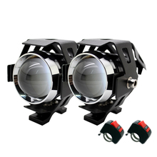 2Pcs/Set SUNKIA U5 3 Modes 3000LM LED Lights With Switch 125W CREE Chip Auto Projector Head Lamp Motorbike Head Fog Light