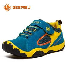 GEERBU Children Outdoor Shoes Light-weight Leather Girls Boys sport Sneakers Kids Wear-resisting anticollision Casual Shoes(China)
